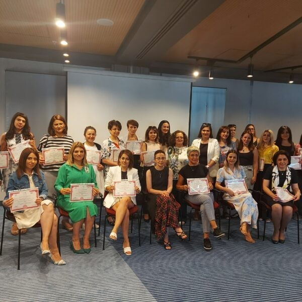 """Certificates for women who completed the """"Women on the Board of Directors"""" training"""